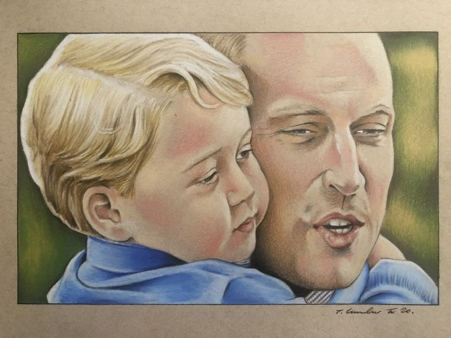 Prince George of Cambridge, Prince William by TraceyLawler